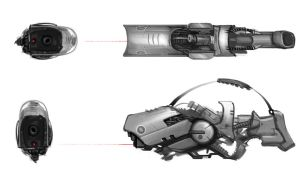 Futuristic Weapon Concept by Rusty001