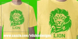 Tshirt: Face Lion by Vilchis