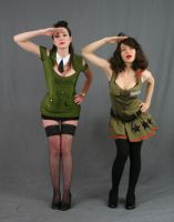 Military Gals 5 by MajesticStock