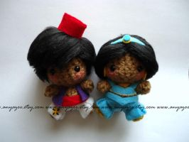 Aladdin and Jasmine Amigurumi by AnyaZoe
