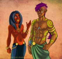Commish: Krieja and Rixian by Guttergoo