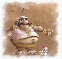 fat man and a poodle by Ninji99