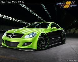 Mercedes SL 63 green by MurilloDesign