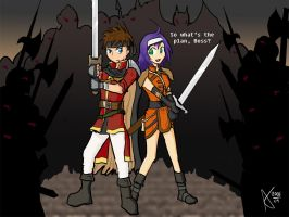 Auron and Mia by Cyberscythe