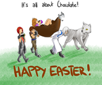 Happy Easter Exclamation Mark by TheoLizard