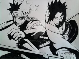 Naruto vs Sasuke by Salvo91