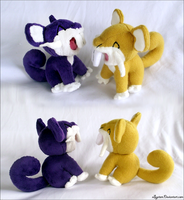 Rattata Twins by xBrittneyJane