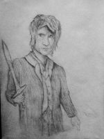 Bilbo with sting hand drawing by crqsf