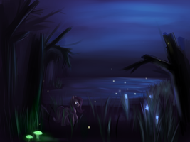Night Lake by Sokolas