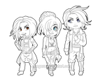 Chibi Swift Hand Gang (lines) by Exagora