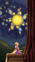 Rapunzel Has A Dream by ArtbyMaryC