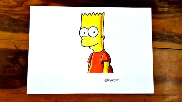 Bart Simpson Drawing II The Simpsons by bryanyez