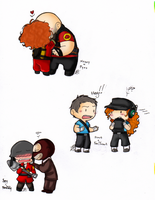 TF2- Chibis of couples n stuff by HoneyAppleNinja