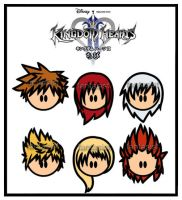 KH2 - Chibi faces by fantasist