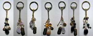 Gold Cluster Stone Keychains by BloodRed-Orchid