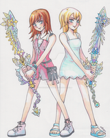 Commish: Kairi and Namine Ultima Weapons by Mojgon by x-Destinys-Force-x