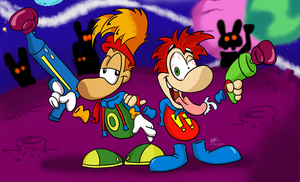 Rayman-Jazzed Up and Rearin to go by spongefox