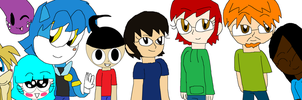 My  Good Art Friends (colored) by iza200117