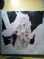 Kurt cobain drawing in the making by CalebSlabzzzGraham