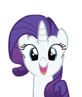 Rarity is happy to see you by Bio-999
