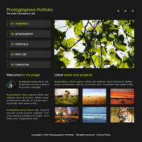 Photograph Portfolio Template by apokalypseAT