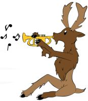 Moose and the Trumpet by Kyra-Wolf