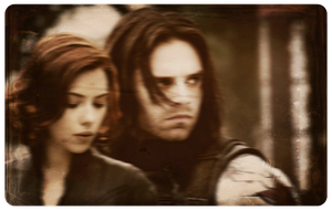 Bucky and Natasha by cptcommunist