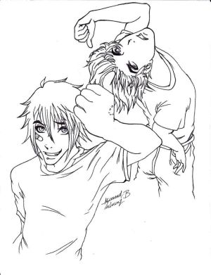 Adam and Aaron: Cover LINEART