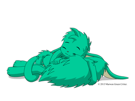 Tail pillow by MarwanGreenCritter