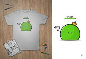 King Slime ( RPG T-Shirt ) by platfus123