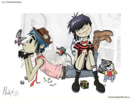 2D and Noodle by ChristaMonkey