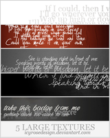 LargeTextures_phrases by icyrosedesign