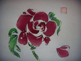 Red Rose by CrystalAngel04