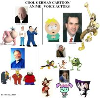 Cool German Anime/Cartoon Voice Actors by Austria-Man