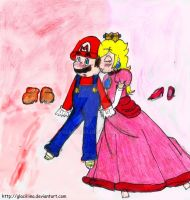A kiss for mario by Glaciliina