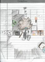 Sleeping in Minecraft Cave by AisicanJonJon