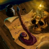 Legends of Norrath card, Quill by artsavant