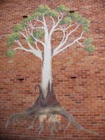 Commission- Tree Mural by joshification
