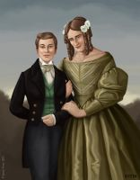 Gisela Bauer With Her Husband, 1830s by Eves-Rib