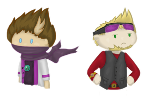 Chibi Rythian and Strife by BrumbyOfSteel