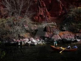 Guide Boat on Green River Fly by houstonryan