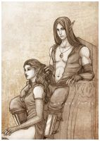 Commission: Aylsa and Elreth by SerenaVerdeArt