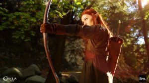 Tauriel and Bow by CORSIGLIA