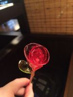 Rose made of candy glass by Arachnoid