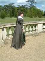 1780s Dress back + side view by SerenaScarlet