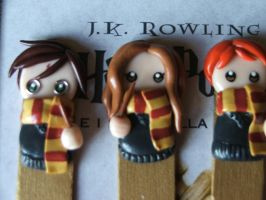 Fimo Bookmarks H. P. by Libellulina