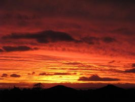 Evening red by Dundeee