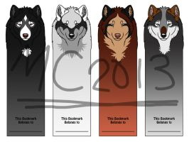 Wolf Bookmarks! by CreatureCreatingBabe