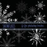 Snowflake Photoshop Brushes by Mikaylen