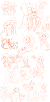 Adventure Time Sketch Dump by PrinceShiroko